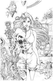 Wonderland Coloring Page By Kromespawn