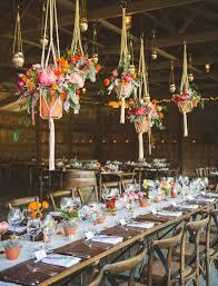 Hanging Flower Pots Wedding Decorations