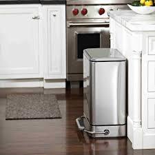 Slim Bathroom Trash Can With Lid kitchen trash can with lid plastic garbage can best kitchen bin