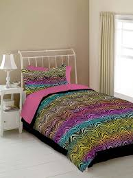 Hot Pink & Black Zebra Print Teen Girl Bedding Twin forter Set