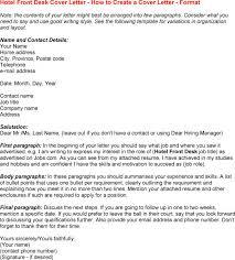 cover letter for front desk resume badak