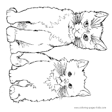 Beautiful Inspiration Cat Animal Coloring Pages Dog And Color Printable Page