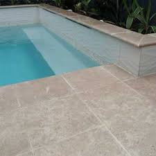 photos of pool pavers and stone tiles and matching coping tiles