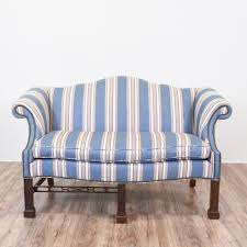 Camelback Sofa Slipcover Pattern by This Camelback Chippendale Sofa Is Upholstered In A Durable Blue