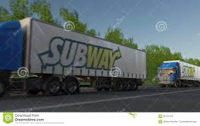 Freight Semi Trucks With Subway Logo Driving Along Forest Road ... Breaking Pappy Van Winkle Delivery Truck Accidentally Delivered Doniphan Used Vehicles For Sale Subway Forces Sick Employee To Keep Working Eater 2007 Mitsubishi Fuso Fe140 Stk 0c6214 Subway Parts Youtube Parts 2008 Ford F250 Xl 54l 4x4 Truck Inc Dade Corners Marketplace Fuel Wash Parking Sapp Bros Denver Co Travel Center Semitrailer Crashes Into Restaurant In Platte County Police Freight Semi Trucks With Logo Driving Along Forest Road Colfax Pickup Truck South Fargo Ford F150 Extended Cab Interior Xlt L V Subway Parts Inc Auto