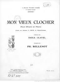 siege social traduction mon vieux clocher pour chant et piano paroles de emile clavel