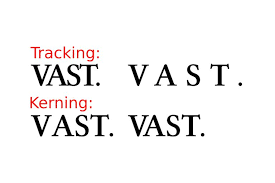 A Vector Image Displaying The Difference Between Tracking And Kerning Red Font Is Dejavu