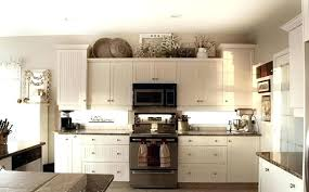 Decor For Above Kitchen Cabinets Decorating Ideas Top Of Cabinet Idea Rustic