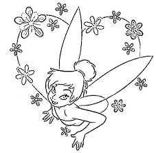 Printable Tinkerbell Coloring Pages Tinker Bell Picture Angry Birds Princess