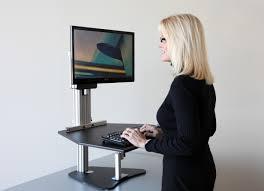 Monitor Stands For Desks Nz by Table Marvellous Benefits Stand Up Computer Desk Adjustable Design