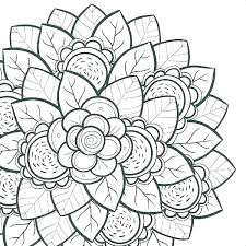 Flower Design Coloring Pages Free Printable For Adults Page Vase Pattern Colouring Fl