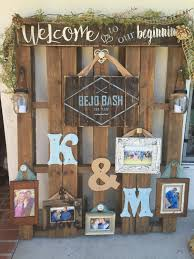 Pallet Wedding Decor Wood Sign Display Rustic Picture