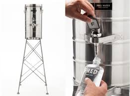 Fred Water Elevates Refilling Bottles With Stylish Tower Dispenser