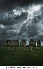 Stock Images Of Stonehenge Lightning Storm K3438666