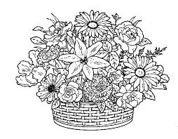 Flower Coloring Pages For Adults Hard Page Adult
