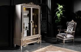 monaco klassiche esszimmer vitrine