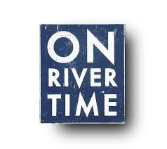 100 River House Decor On Time Rustic Wooden Sign7 X 9 Sign Rustic Sign Wall Hanging Distressed Vintage Style Sign