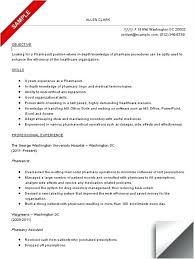 Resume Sample For Pharmacy Assistant Technician In Canada