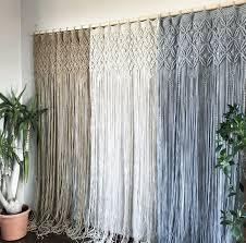 ein oder zwei panel makramee vorhang makramee raum teiler makramee fenster vorhang boho macrame dekor schlafzimmer vorhang tür vorhang macrame