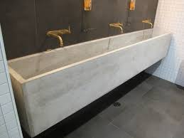 Two Faucet Trough Bathroom Sink by Marvellous Trough Bathroom Sink With Two Faucets Images Best