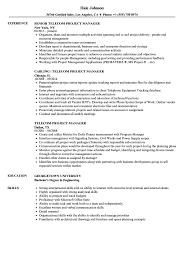 Sample Cv For Telecom Project Manager