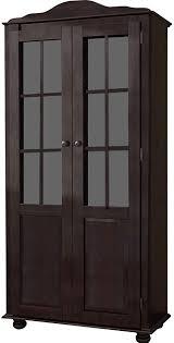 loft24 vitrine kiefer massiv landhaus vitrinenschrank groß