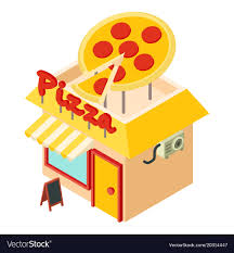 Pizza Shop Icon Isometric Style Vector Image
