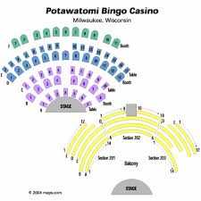 Potawatomi Bingo Casino Seating Chart Potawatomi Bingo Casino