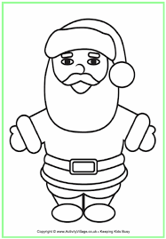 Father Christmas Colouring Page 2