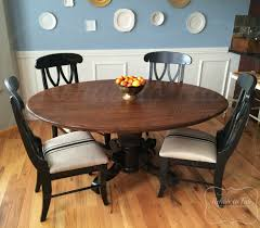 Table And Chairs In Java + Antique Walnut Gel Stain And Lamp ...
