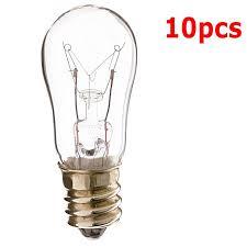 10pk satco s3900 6w 130v s6 clear e12 candelabra base
