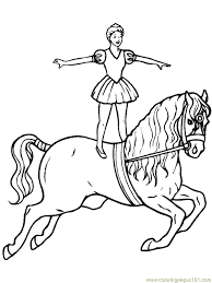 Circus Horse Coloring Page