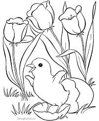 Spring Picture To Print And Color