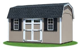 10x14 Barn Shed Plans by Gambrel Barns Pine Creek Structures