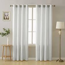 deconovo ösenvorhang gardinen deko gardinen schlafzimmer 175x140 cm weiß 2er set