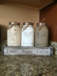Mason Jar Canister Set HALF GALLON JARS Kitchen