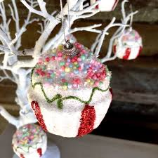 12pk Christmas Decorations Cupcake Hanging Tree Ornaments RRP 2995