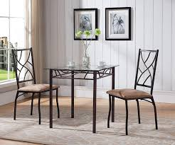 Kings Brand Furniture 3 Piece Bronze Metal Square Dining Kitchen Dinette  Set, Table & 2 Chairs Kings Brand Fniture 3 Piece Bronze Metal Square Ding Kitchen Dinette Set Table 2 Chairs Elixir 80in Rectangular With Base By Hooker At Dunk Bright Costway 5 4 Wood Breakfast Chic Gray Room With Rustic And Vintage Louis Pair Of Silver Velvet Mirrored Legs Vida Living Tempo Glass C1860p Industrial Round Lifestyle Sam Levitz Fixer Upper A Contemporary Update For A Family Sized House Hot Item Cheap Leg Chair Vecelo Sets Pcs Embossed White Montello 3piece Old Steel