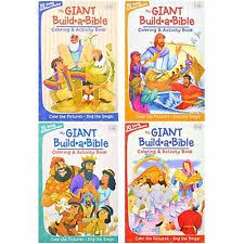 Case Of 24 My Giant Build A Bible Coloring Activity Books Church Camps