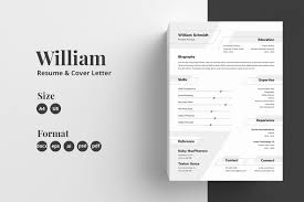Resume/CV Template - William In Resume Templates On ... The Best Free Creative Resume Templates Of 2019 Skillcrush Clean And Minimal Design Graphic Modern Cv Template Cover Letter In Ai Format Cvresume Design In Adobe Illustrator Cc Kelvin Peter Typography Package For Microsoft Word Wesley 75 Resumecv 13 Ptoshop Indesign Professional 2 Page File 7 Editable Minimalist Free Download Speed Art