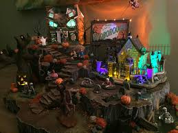Dept 56 Halloween Village List by Halloween Spookytown Haunted Hill Village Display With Hand Carved