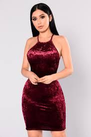 velvet dress burgundy