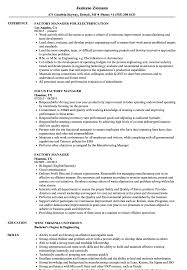 Download Factory Manager Resume Sample As Image File