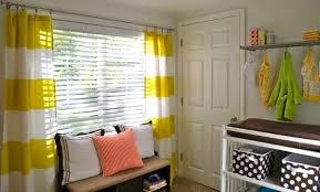 Yellow And White Striped Curtains by Furniture Combine Your Living Room Decore Decor With The Yellow