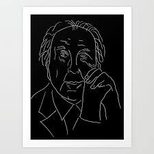 100 Frank Lloyd Wright Sketches For Sale Negative Version Art Print