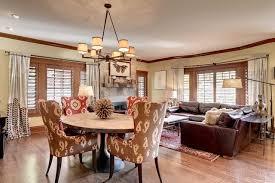 JM Designs Interior Designers Decorators Tudor Revival Combined Living Dining Area Craftsman Room