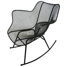 Mid-Century Modern Sculptura Wire Mesh Rocking Chair By Russell Woodard Durogreen Classic Rocker Black 3piece Plastic Outdoor Chat Set Presidential Recycled Wood Patio Rocking Chair By Polywood Shop Intertional Concepts Slat Seat Palm Harbor Wicker Grey At Home Trex Fniture Yacht Club Charcoal Americana Style Windsor Jefferson Woven With Tigerwood Weave Colby Cophagen Cushioned Rattan Armchair Glider Lounge Cushion Selections Chairs At Lowescom