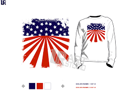 FREE DOWNLOAD Color Seperated AMERICAN FLAG Vector Design For Print On Tshirt And Other Apparel