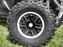 100 14 Inch Truck Tires No Limit Storm 2 Piece ATV UTV Wheels White