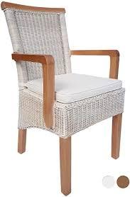 esszimmer stuhl mit armlehnen rattanstuhl weiß perth mit ohne sitzkissen leinen weiß farbe mit sitzkissen